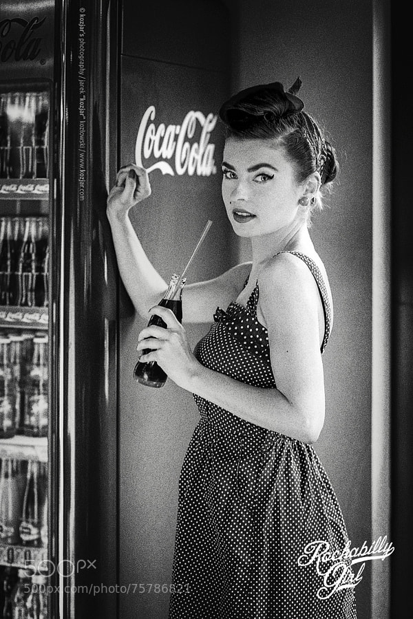 Photograph Rockabilly Girl vs Coca-Cola by Jarek Kozlowski on 500px