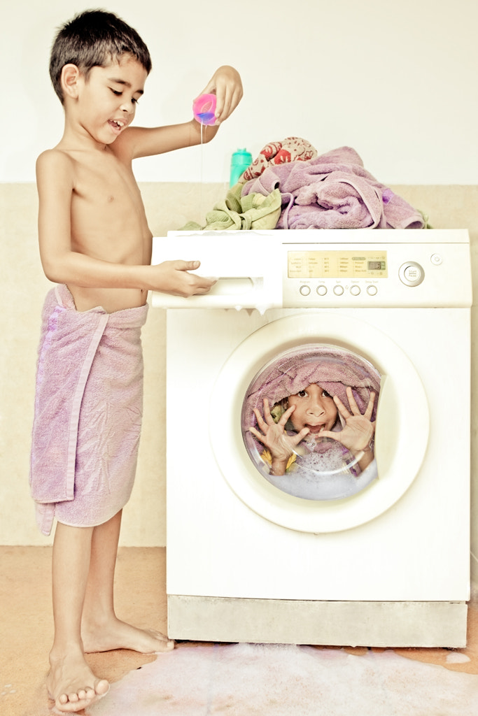 Photograph Sister Wash-Up by Annemarie Rulos - vd Berg on 500px
