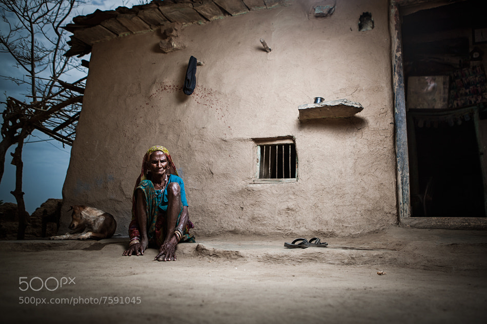 Photograph Meena tribal village, road from Dungarpur to Banswara by Lukasz Piech on 500px