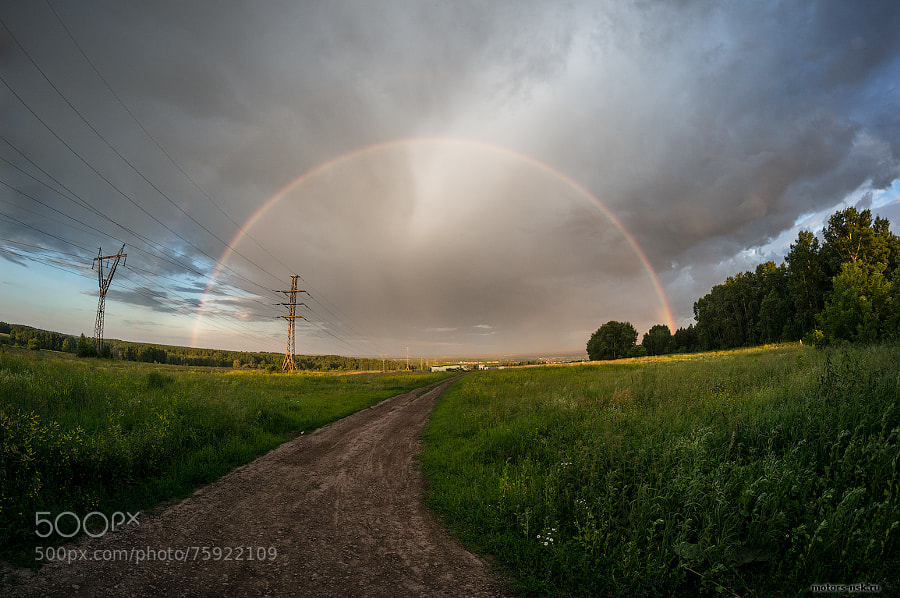 Double rainbow by motors