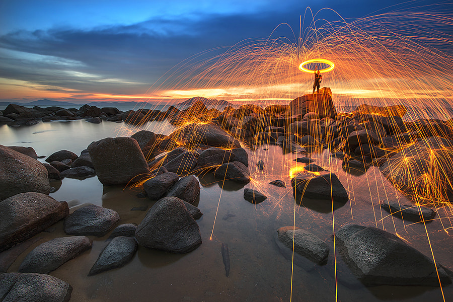 Photograph Steel Wool at Blue Hour by Ivan  Koerniady on 500px