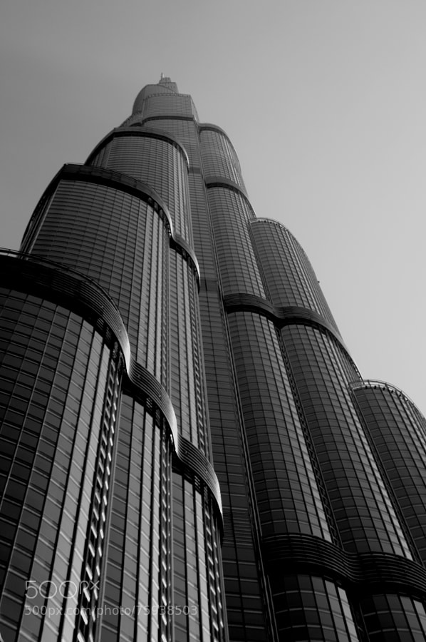 Photograph B&W Burj Khalifa by Chema Domenech on 500px