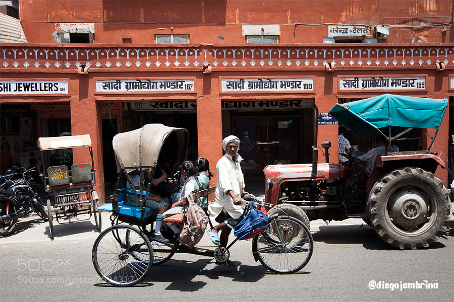 Rickshaw escolar en Jaipur by Diego Jambrina (Elhombredemackintosh) on 500px.com