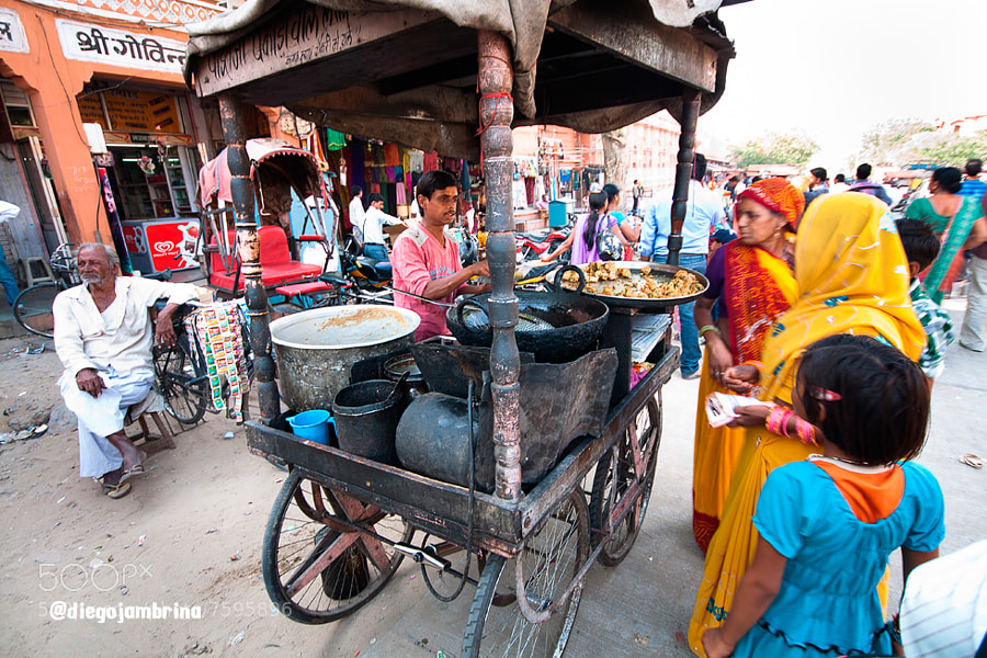 Puesto callejero de comida en Jaipur by Diego Jambrina (Elhombredemackintosh) on 500px.com