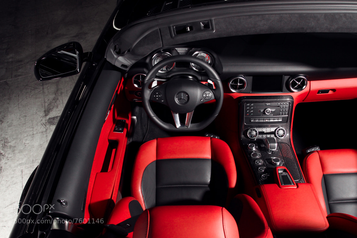 Photograph Mercedes SLS AMG Roadster Interior by Philip Tieu on 500px