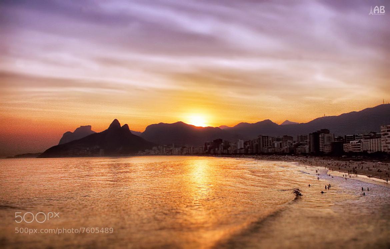Photograph Sunset at Ipanema by Alexandra (Petrova) & Bharath Wootla on 500px