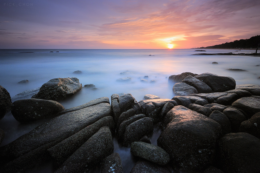 Photograph sea sunset by pick chon on 500px