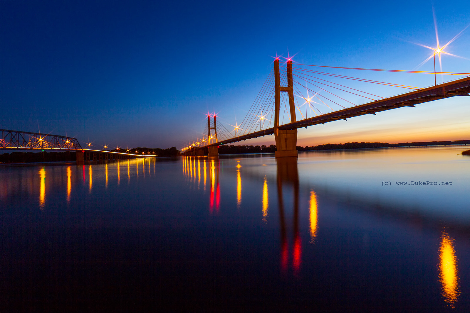 Photograph Bayview Bridge in Quincy, IL by DukePro Photography on 500px