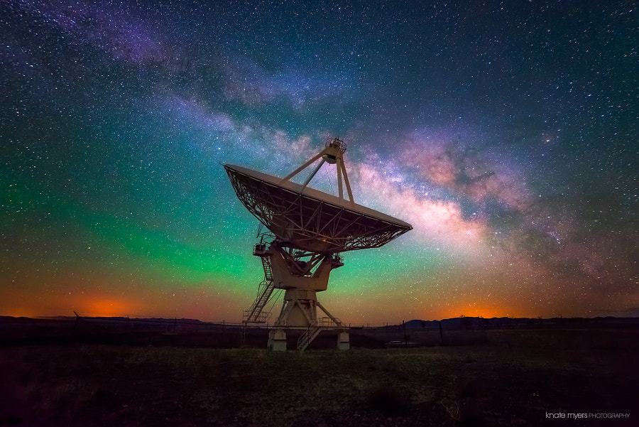 VLA and Milky Way by Knate Myers on 500px.com
