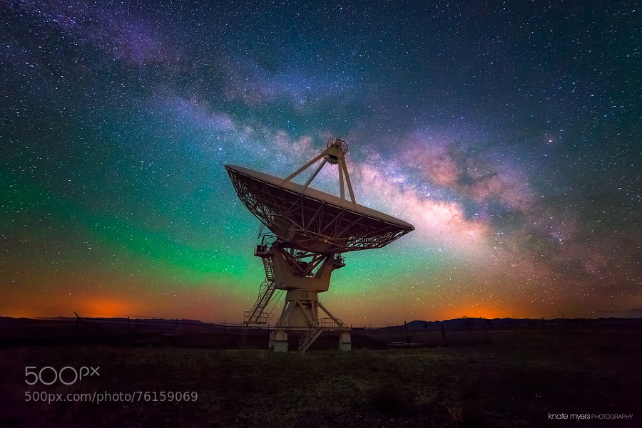 Photograph VLA and Milky Way by Knate Myers on 500px