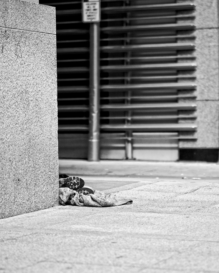 I don't normally take photos of homeless people...