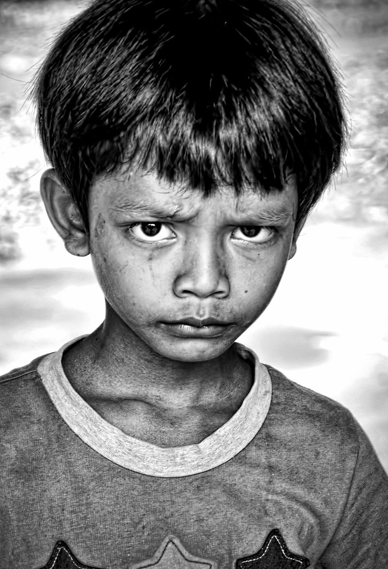 Photograph Angry Kid B&W by Eric Edouard Amilhat on 500px
