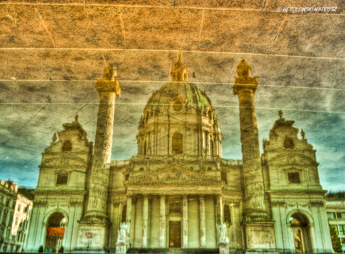 "Photograph 'Karlskirche in reflection"" by Mateusz Wesolowski on 500px"