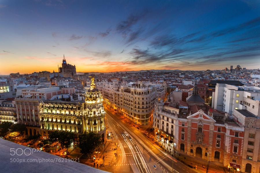 Photograph Madrid sunset by Fabian Van Schepdael on 500px