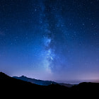 Постер, плакат: Milky Way in Tuscany