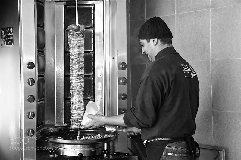Photograph Shawarma guy by Chareese Allen on 500px