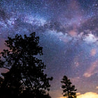 Постер, плакат: Milky Way near Mogollon Rim