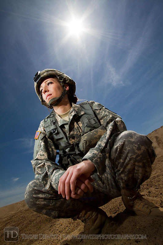 Photograph Female Army Soldier by Travis Dewitz on 500px