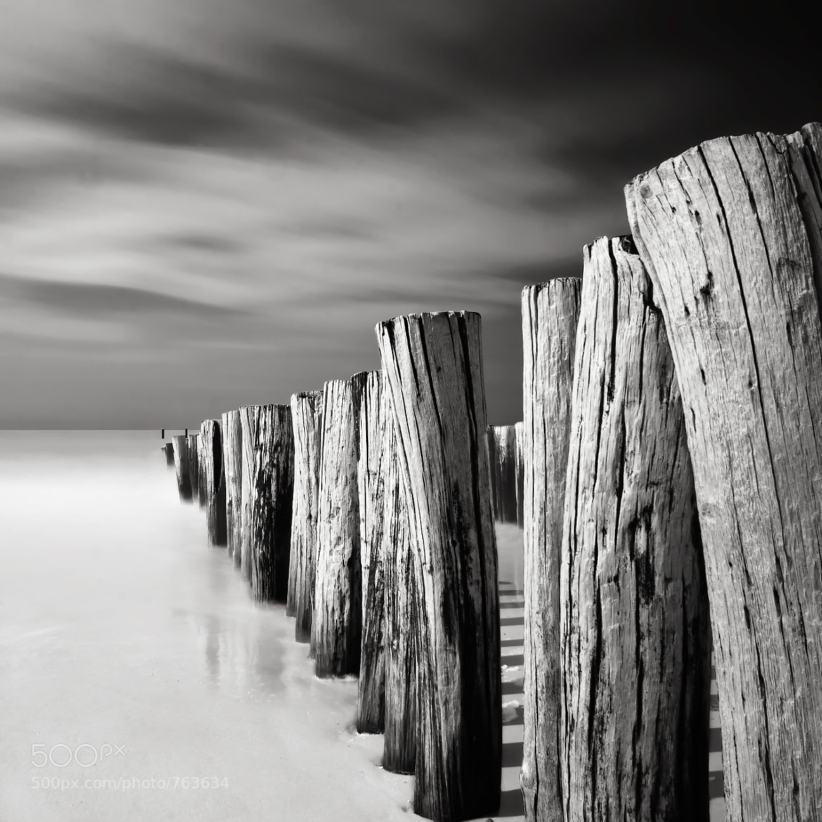 Photograph Domburg Groynes by Joel (Julius) Tjintjelaar on 500px
