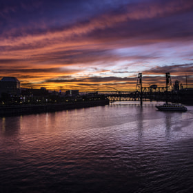 Last nights sunset,shot on the burnside bridge .....