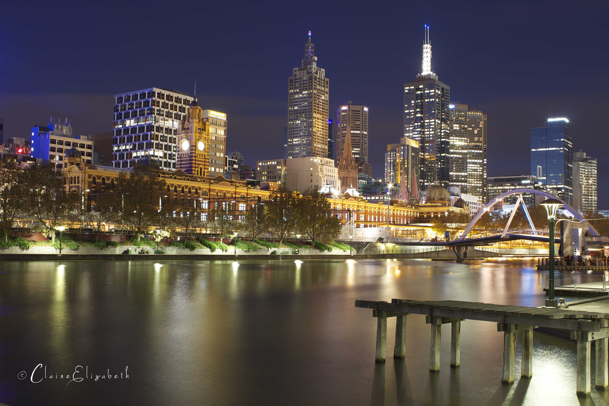 Photograph Melbourne at night by Claire Hancox on 500px