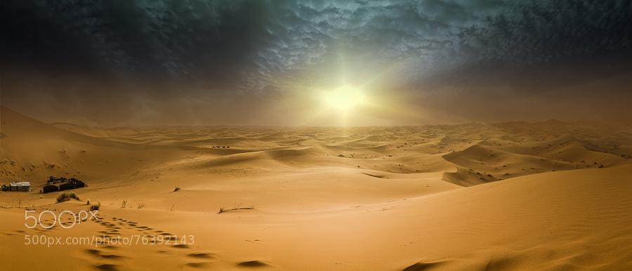 Desert storm begins