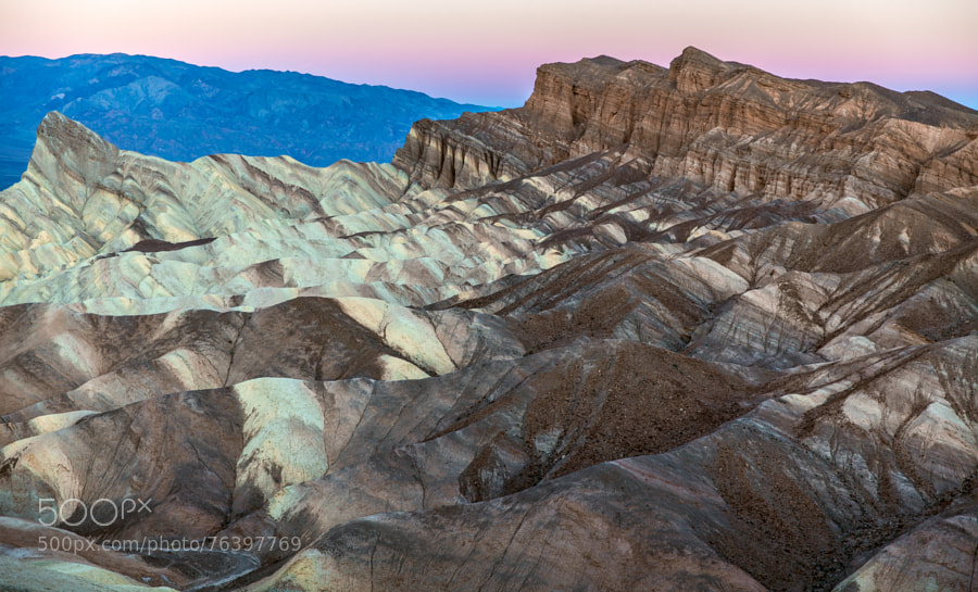 Photograph Dawn-Zabriskie Point-Death Valley by Pat Kofahl on 500px