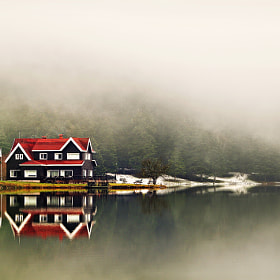 The Lake, the House and the Fog... by Alp Cem (alpcem)) on 500px.com