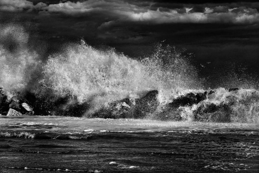 Photograph The Performance Of The Rough Sea by mario pignotti on 500px