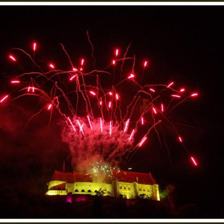 Firework at Vianden castle