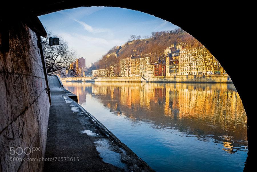 Photograph Sous le Pont - Quai de Saône - LYON by Julien REBOULET on 500px