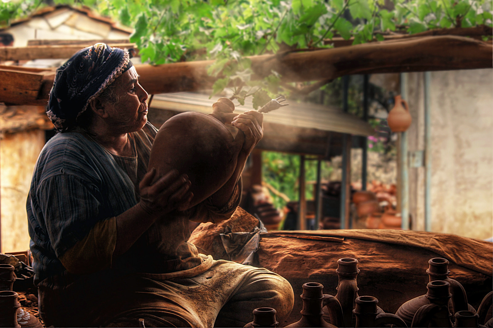 Photograph potter woman by Emine Başa on 500px