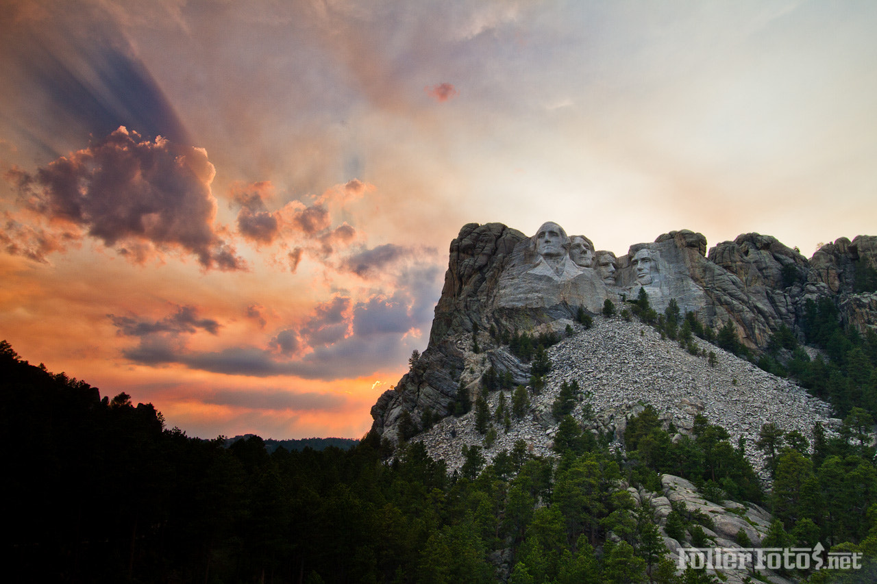 Photograph Sunset at Mt. Rushmore by Tom Fuller on 500px
