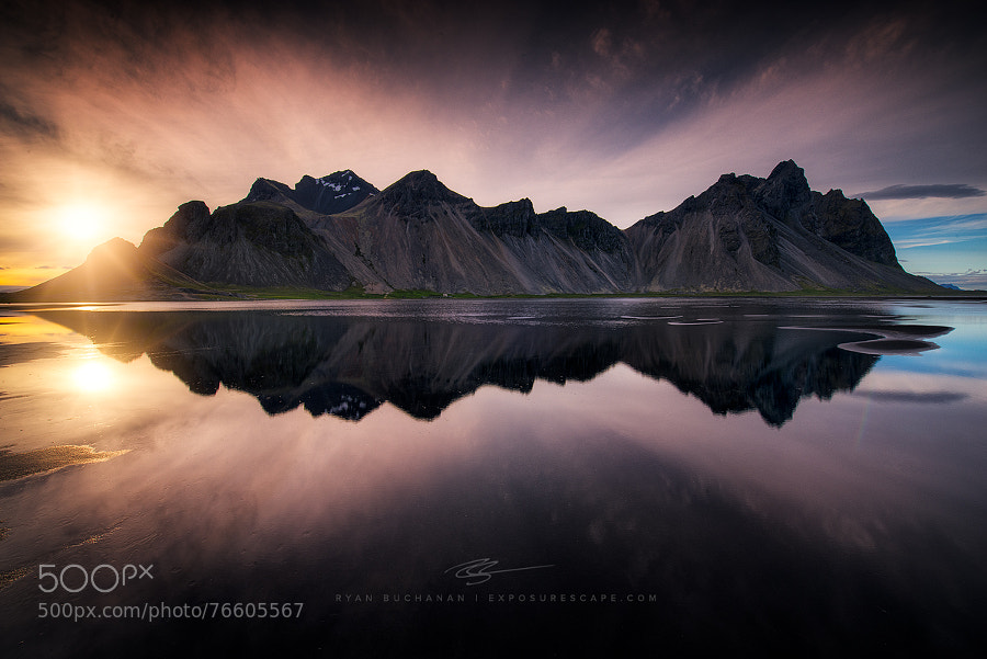 Photograph Reflections of Vestrahorn by Ryan Buchanan on 500px