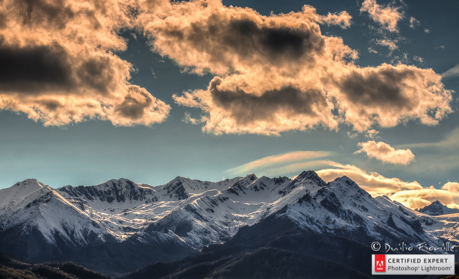 Photograph HDR Sunset over Alps by Duilio Fiorille on 500px
