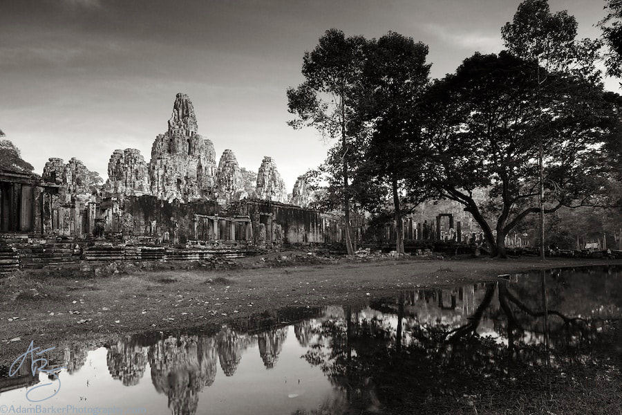 Photograph The Bayon in BW by Adam Barker/AdamBarkerPhotography.com on 500px