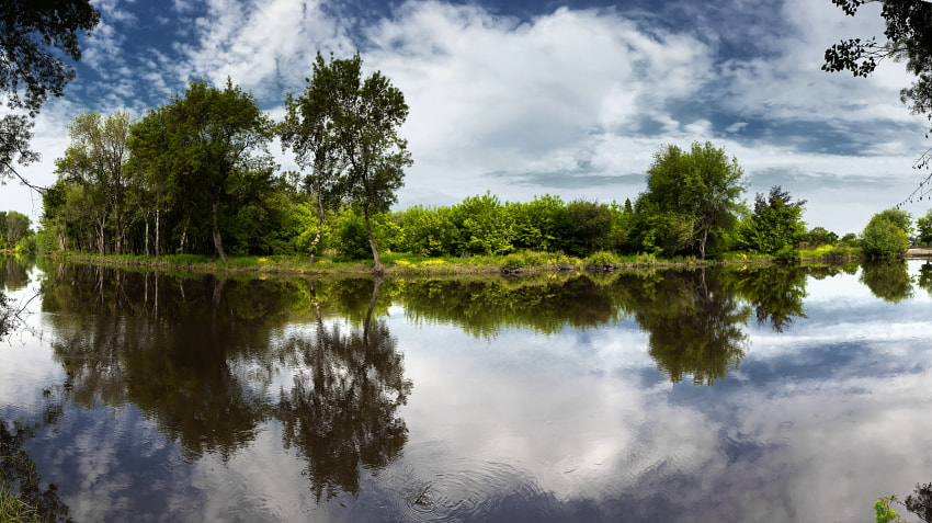 Photograph Reflections at the Lake (panorama) by Rui David on 500px