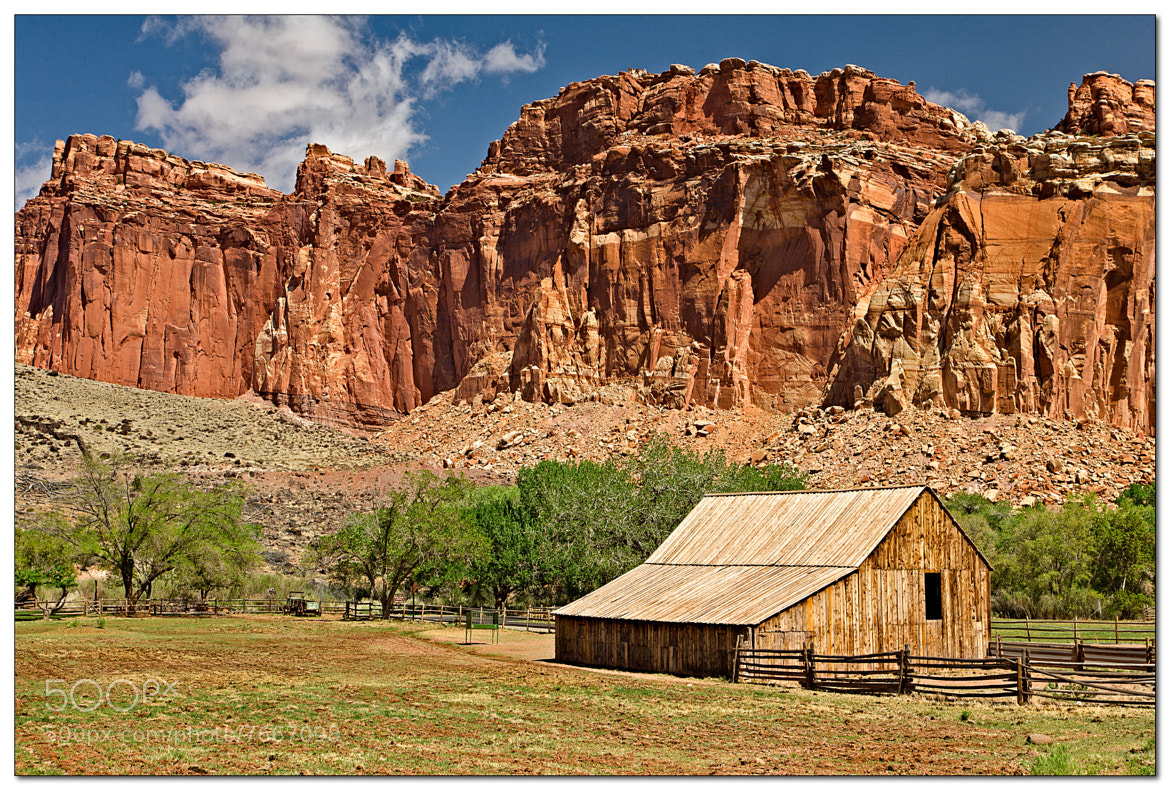 Photograph Barn in Capitol Reef NP by Jameel Hyder on 500px