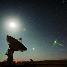 Moonset at the VLA by Knate Myers (KnateMyers)) on 500px.com