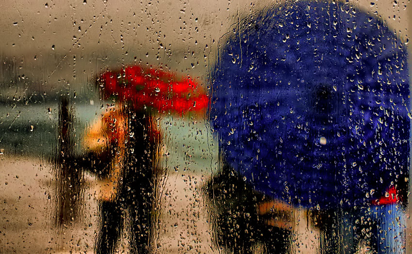 Photograph rain and umbrellas by Deniz Senyesil on 500px