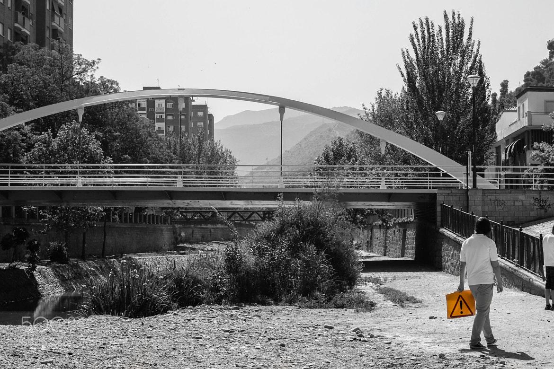 Photograph Caution guy by Borja Sáez on 500px