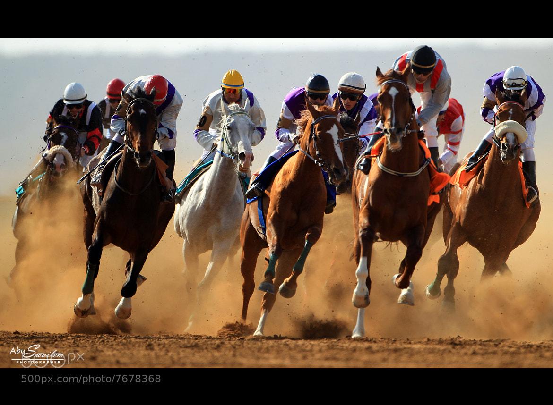 Photograph Horses Racing by Abu  Swailem on 500px