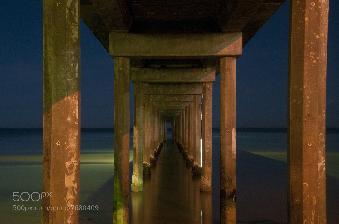 Photograph Brighton Jetty by night by Andrew Dickman on 500px