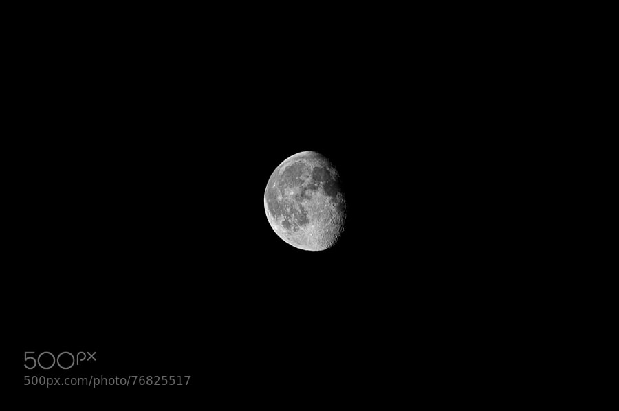 The moon as viewed from Ealing, London