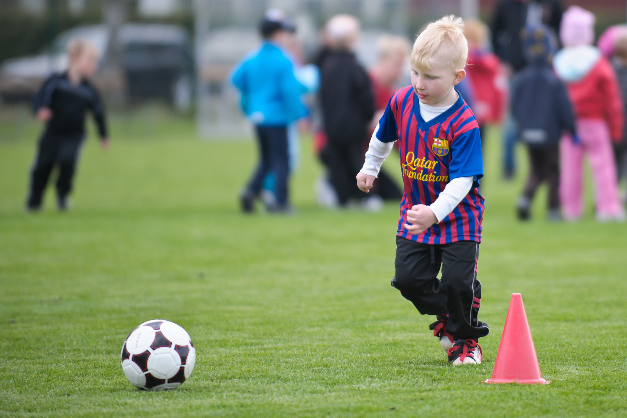 Photograph Colin, first soccer-pratice by Jonas Dandanell on 500px