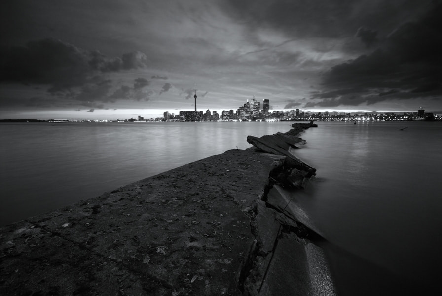 Photograph Broken Pier, Toronto Skyline by Peter Bowers on 500px
