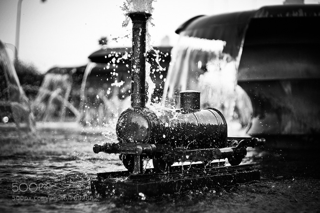 Photograph Steam-engine train in fountain by Mikael Sjösten on 500px
