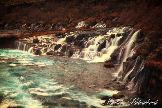 Photograph Waterfalls Hraunfossar by Marketa Kalvachova on 500px