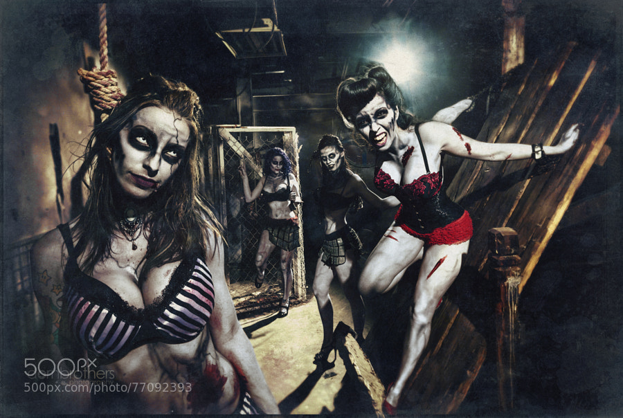 A little mid-summer Zombie Pin-up shoot...