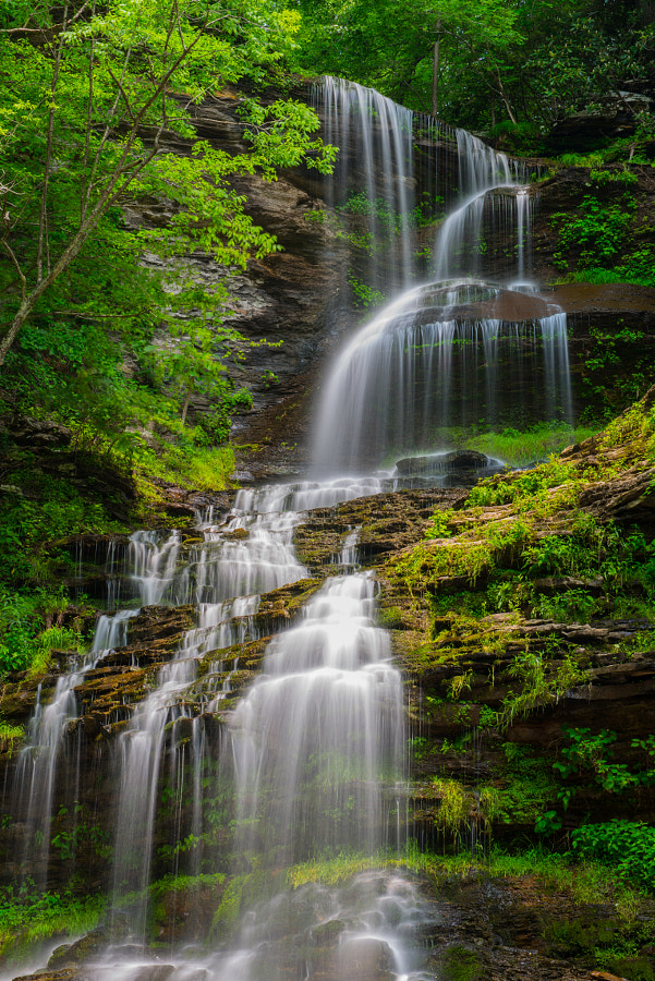 Beautiful Cathedral Falls, along route 64 near Charleston WV.